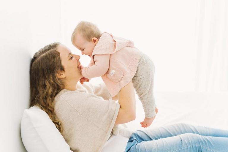 babyfotografering mamma och baby