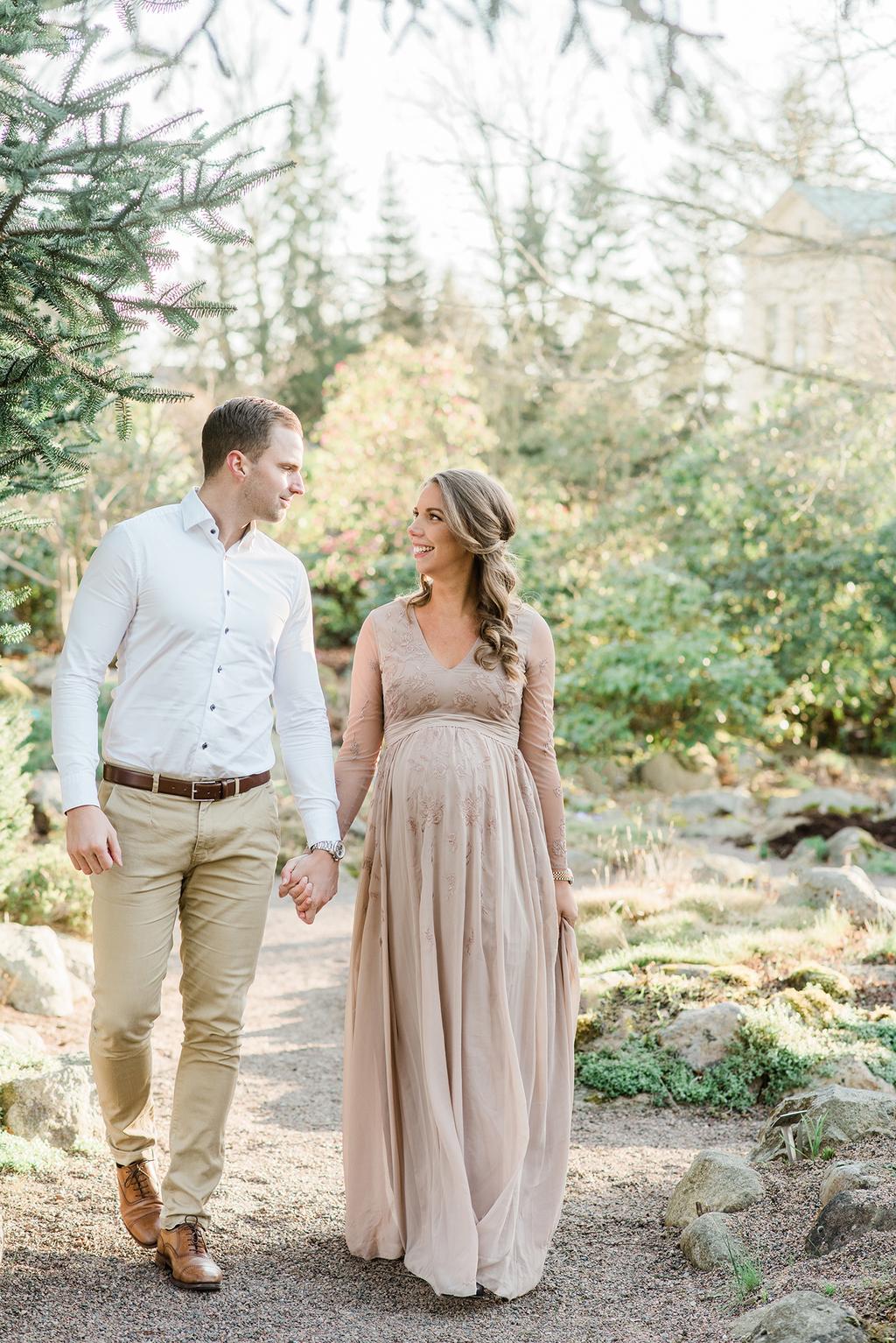 Gravidfotografering med partner i Skåne