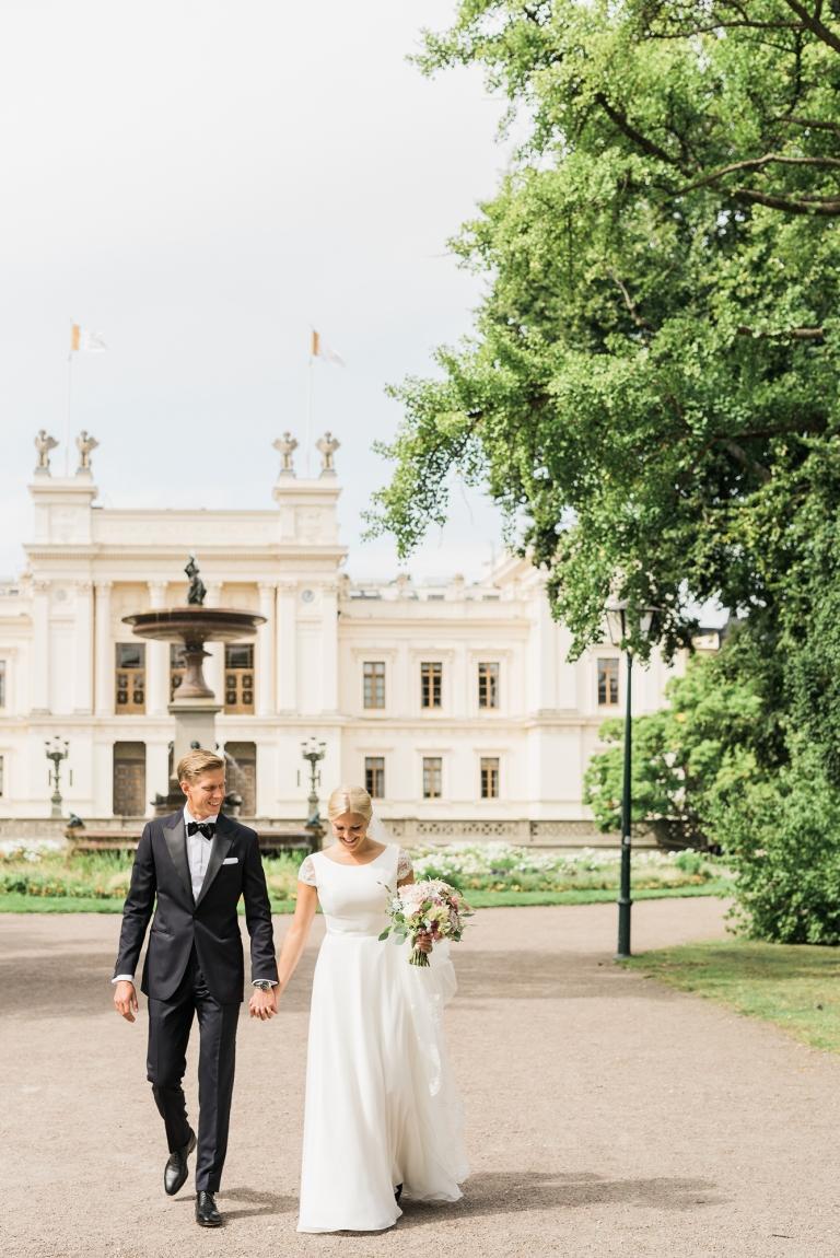 Bild på brudpar av Kajsas Foto - bröllopsfotograf Skåne
